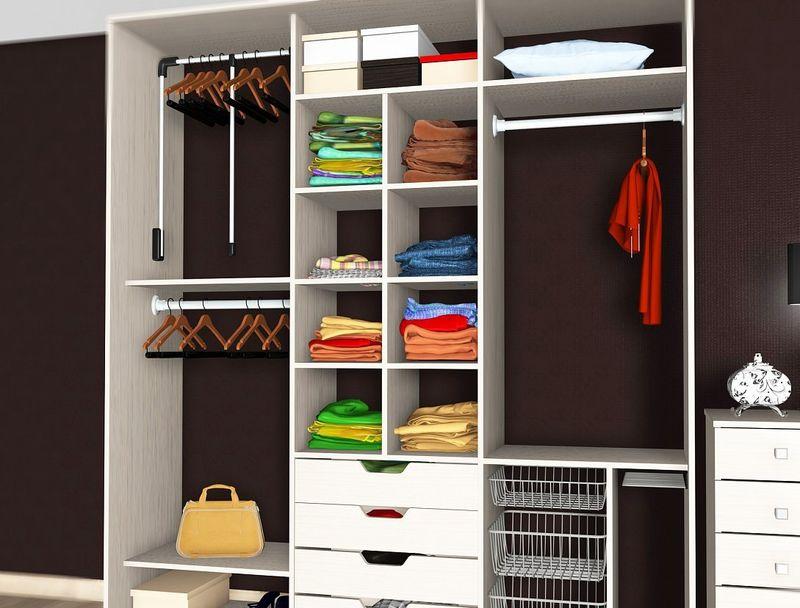 Наполнение для шкафов купе - материалы для современной мебел.